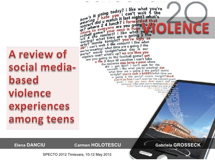Violence 2.0: A Review Of Social Media-Based Violence Experiences Among Teens