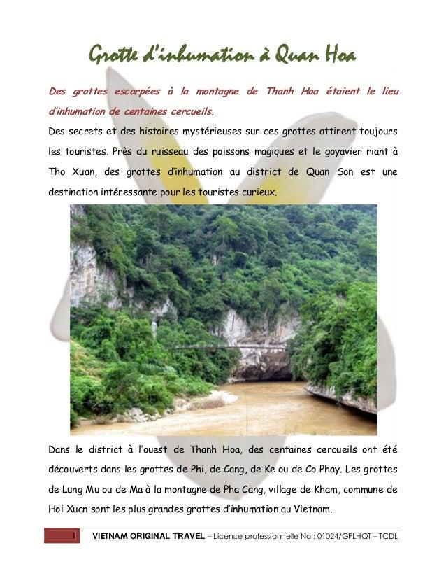 Grotte d'inhumation à Quan Hoa Des grottes escarpées à la montagne de Thanh Hoa étaient le lieu d'inhumation de centaines ...