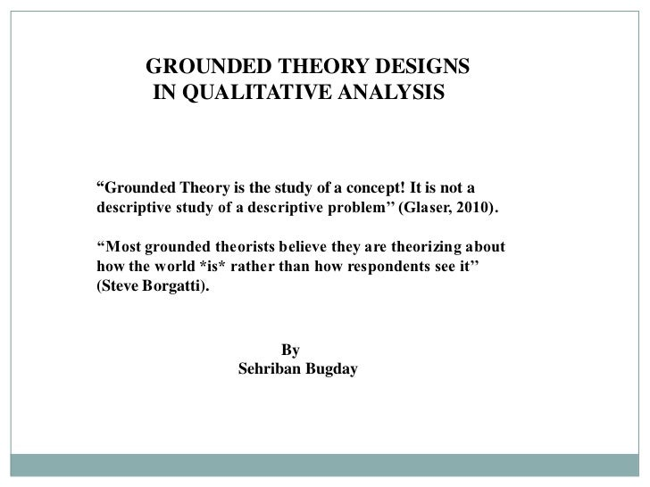 writing grounded theory thesis Chapters 4 and 5 the sequel and the scholarly writing the entire dissertation is written in scholarly language grounded theory research: sample size.