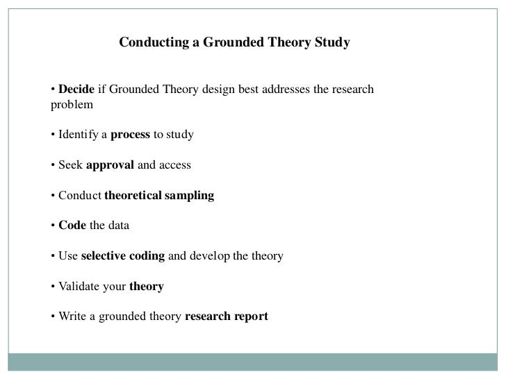 How to write a grounded theory report
