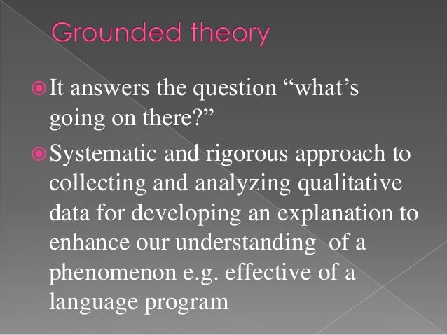 """ Itanswers the question """"what's  going on there?"""" Systematic and rigorous approach to  collecting and analyzing qualitat..."""