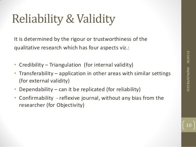 validity reliability and credibility essay Establishing reliability and validity in conducting a research or survey, the  we  tend to give credibility to these newscasters based on the fact that they are.