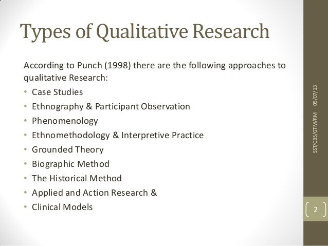 types of methodology in qualitative research 45 whereas qualitative work (small q) refers to open-ended data collection methods such as indepth interviews embedded in structured research.