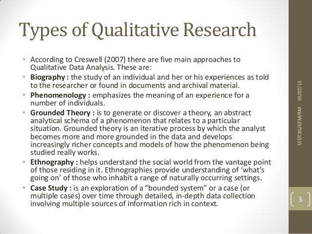 Phenomenological Research | Qualitative Research in ...