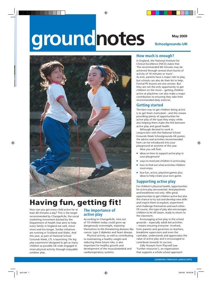 Having Fun, Getting Fit: Schoolgrounds