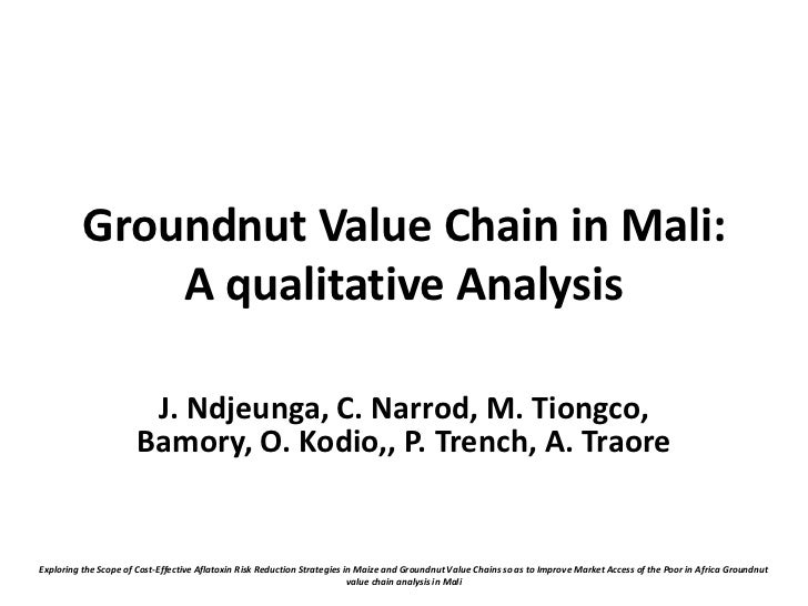 Groundnut Value Chain in Mali:              A qualitative Analysis                        J. Ndjeunga, C. Narrod, M. Tiong...