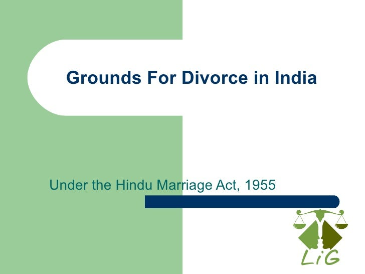 Grounds For Divorce in India Under the Hindu Marriage Act, 1955