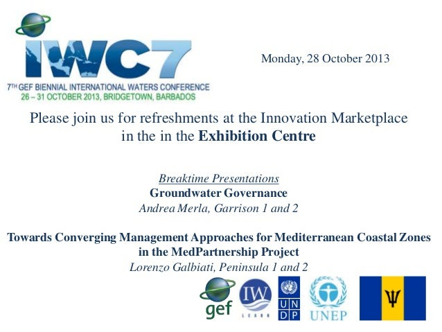 Monday, 28 October 2013  Please join us for refreshments at the Innovation Marketplace in the in the Exhibition Centre Bre...