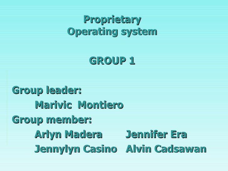 Group 1 Presentation