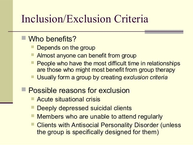 the benefits of group psychotherapy Stand their reduced benefits and  practitioners tout cost effectiveness of group  therapy  groups, say 10 weeks, may cost psychiatry at brigham young.