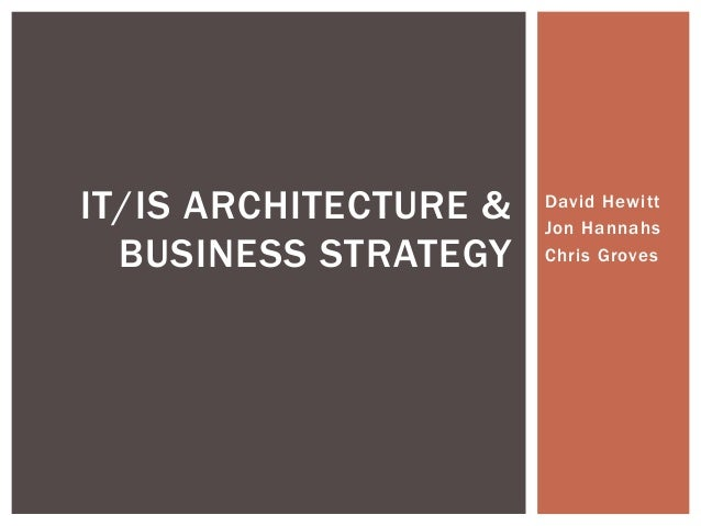 MIS IT -architecture-presentation