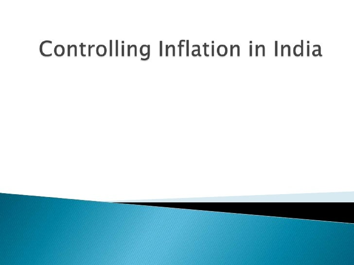 Controlling Inflation In India