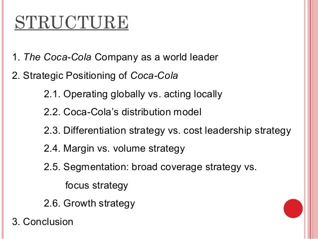 distribution channel of coca cola Distribution channels move products and services from understand the distribution channel structure of coca-cola in nigeria state whether it's direct or.