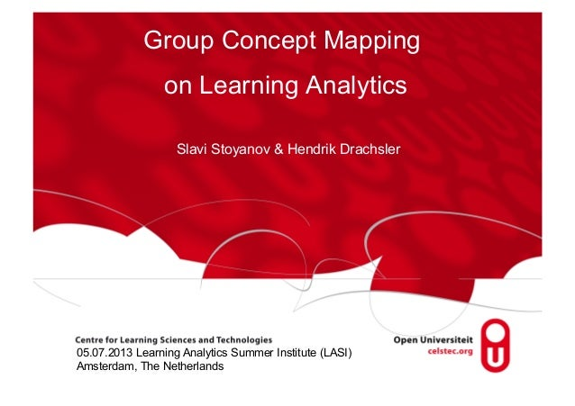 Group Concept Mapping on Learning Analytics Slavi Stoyanov & Hendrik Drachsler  05.07.2013 Learning Analytics Summer Insti...