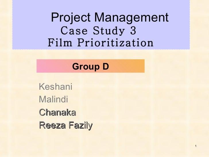 Film Prioritization