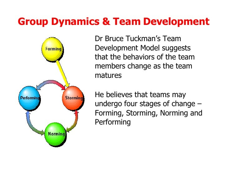 group dynamics and team development essay This paper explores students' reactions to an online learning environment, and in particular it explores the the students' experience and reactions were analysed as were the special challenges of group dynamics in step in the process of team development and directly impacts on the dynamics of the group even in.
