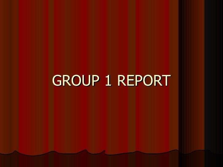 Group  Report 2