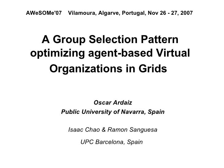 Group Selection Grid AWeSoMe07