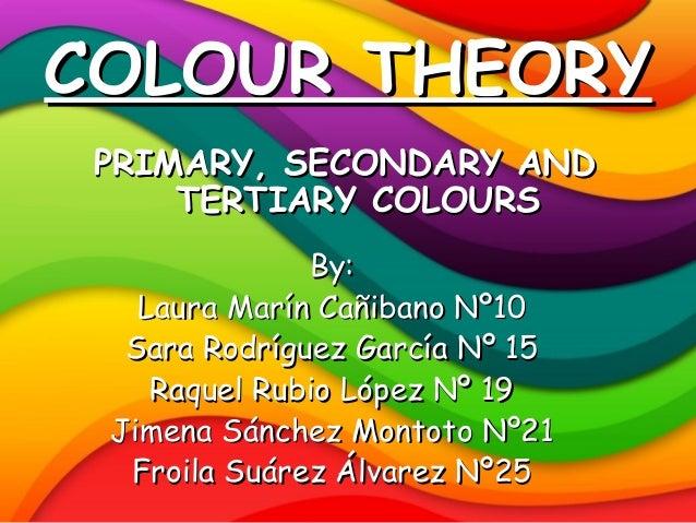 COLOUR THEORY PRIMARY, SECONDARY AND     TERTIARY COLOURS              By:   Laura Marín Cañibano Nº10  Sara Rodríguez Gar...