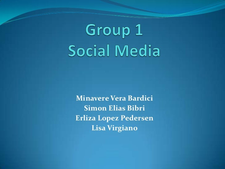 Group 1 Social Media