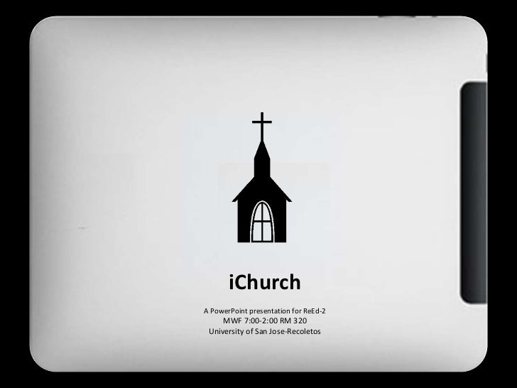 ReEd 3 report-THE CHURCH