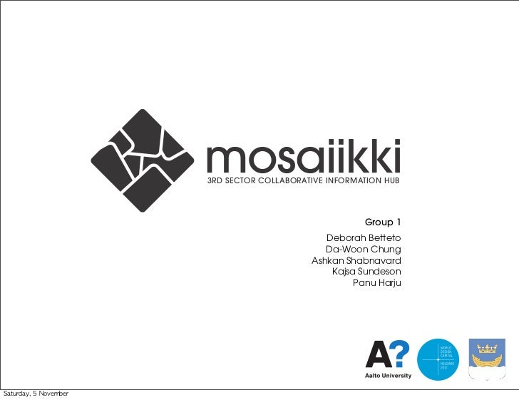 User Inspired Design 2011 Group 1 Presentation