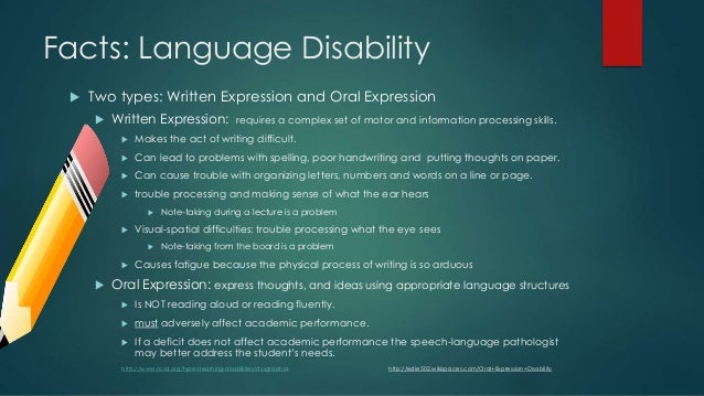Written expression disability