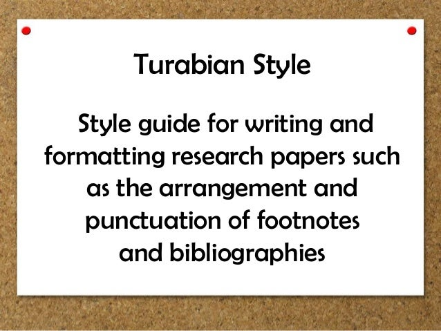 Turabian style of writing