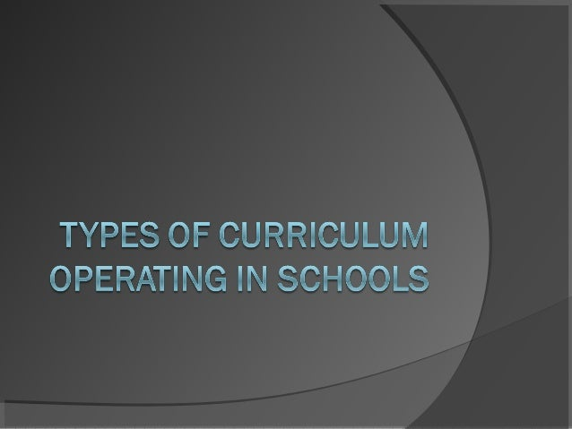 RECOMMENDED CURRICULUM  Proposed by scholars and professional organizations.  May come from DepEd, CHED, DOST or any org...