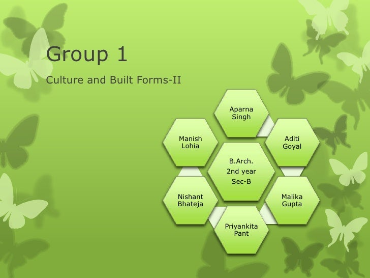 Group 1Culture and Built Forms-II                                    Aparna                                     Singh     ...