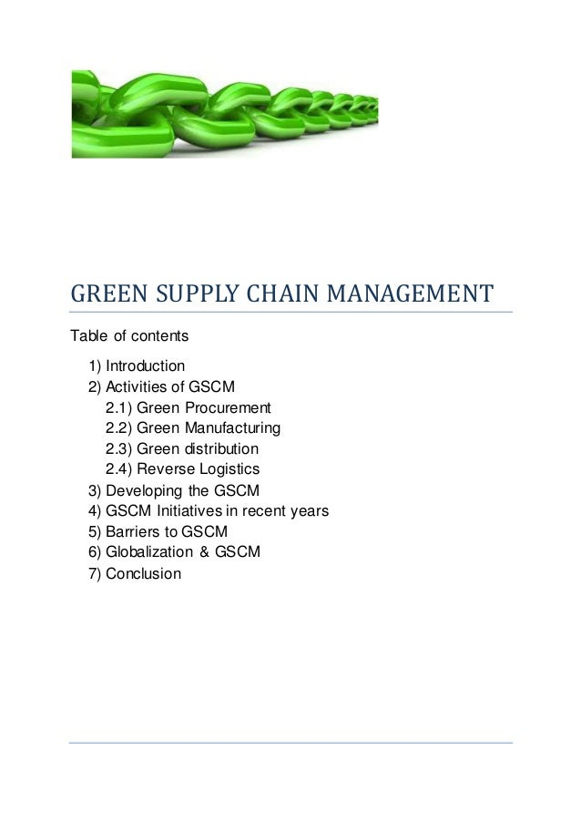 assignment topics for supply chain management