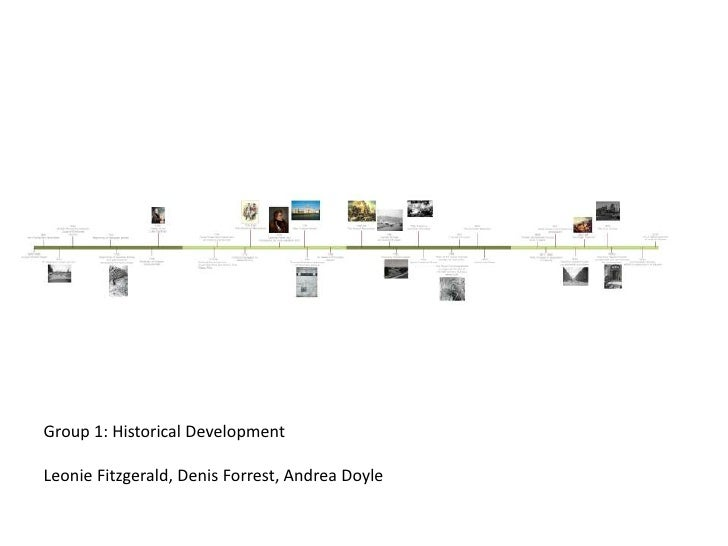 Group 1: Historical Development<br />Leonie Fitzgerald, Denis Forrest, Andrea Doyle <br />
