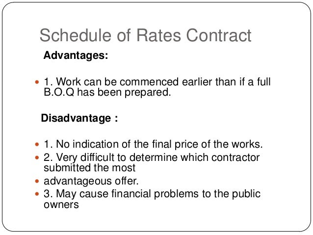 advantages and disadvantages of different types of contracts Employment contracts in the united states: what are the advantages and disadvantages  the various types of contracts,.