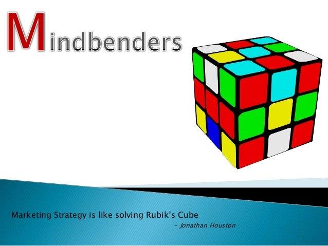 Marketing Strategy is like solving Rubik's Cube - Jonathan Houston