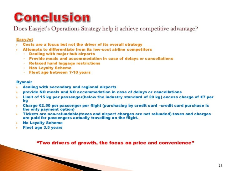 easyjet cost strategy essay