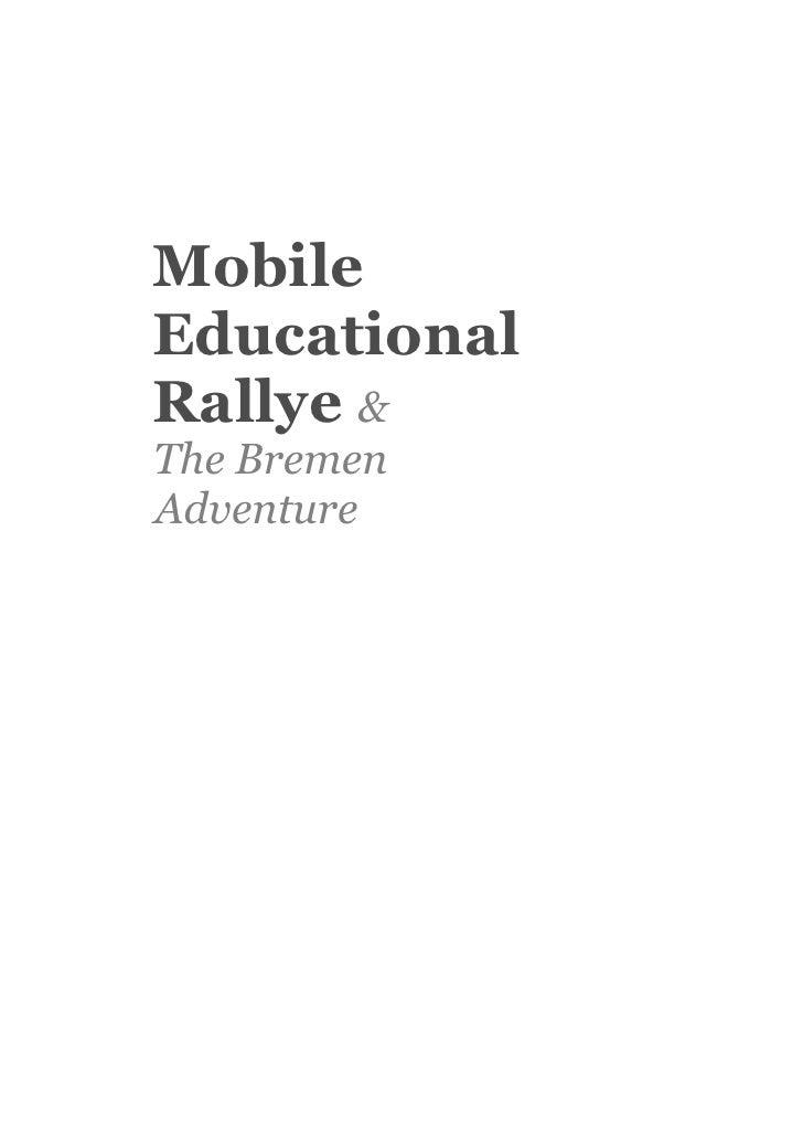 Mobile Educational Rallye & The Bremen Adventure