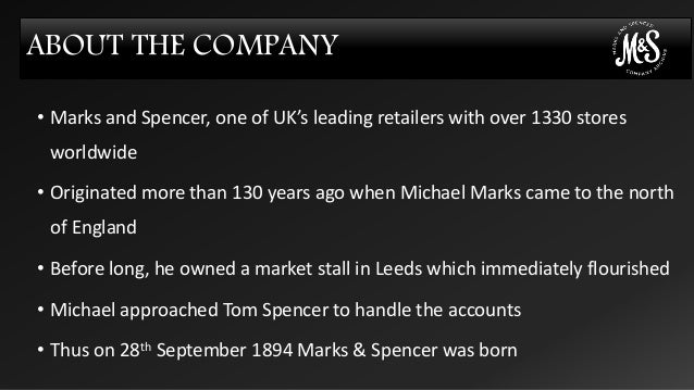 marks and spencer strategy analysis One hundred and forty of the uk's biggest consumer brands go on the shelves of marks & spencer's food stores next week as the struggling retailer attempts to put a halt to falling sales the.