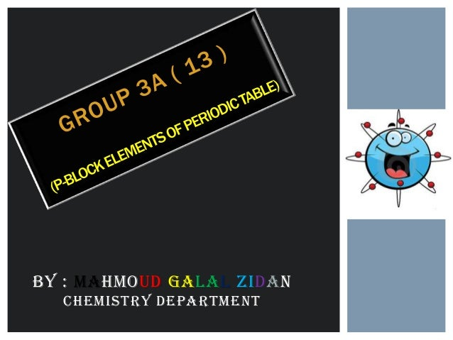 By : Mahmoud Galal Zidanchemistry Department