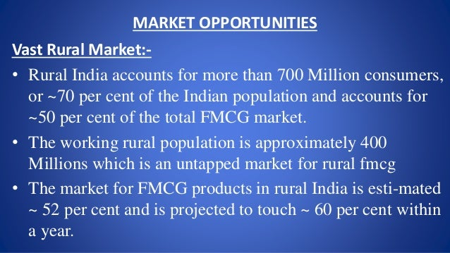 rural marketing fmcg goods The urban fast-moving consumer goods (fmcg) market is exhibiting signs of  recovery while the rural market is experiencing a slowdown,.
