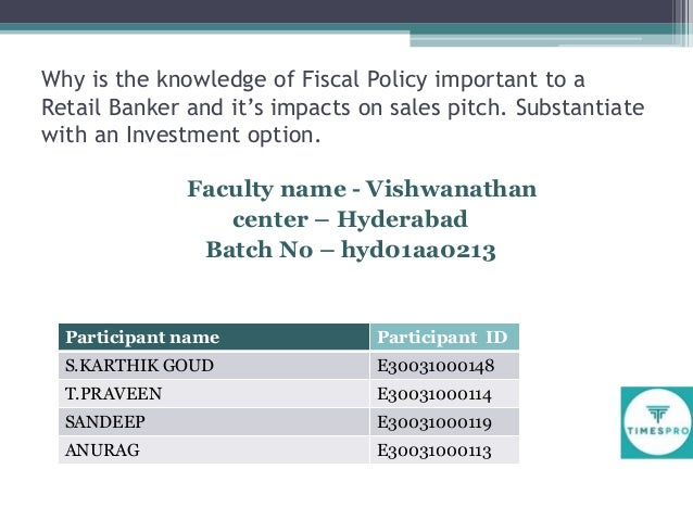 Group4Fiscal Policy & Impact on Retail Banking