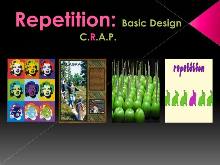 Repetition: Basic DesignC.R.A.P.<br />