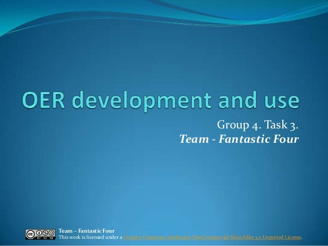 Fantastic Four (Group 4) - OER development and use