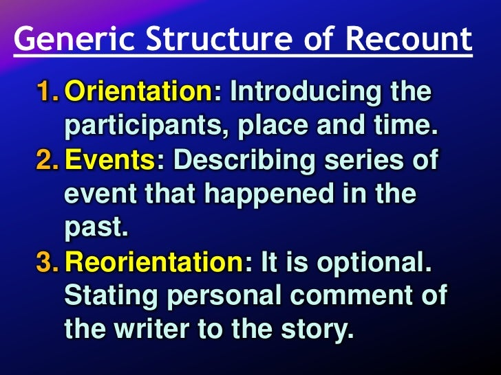 Write an essay in which you recount presonal event.?