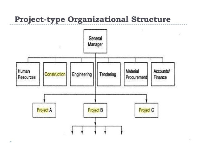 project management organizational structures essay Types of organizational structures commerce essay  types of organizational structures  there are two types of structures in this they are: i) project.