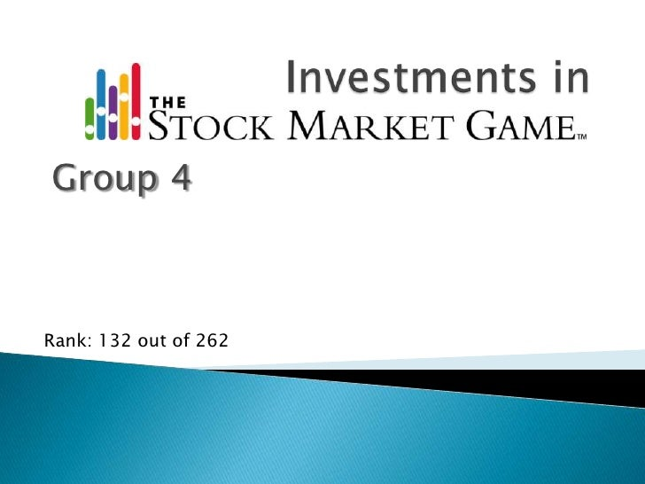 Investments in <br />Group 4<br />Rank: 132 out of 262<br />