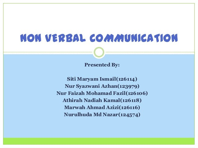 differences in verbal and non verbal types of communication Within verbal communication there are many features to think about but in particular we should consider the way we open communication, just like the way we use non-verbal gestures to get the first impression of a person, the way someone might introduce themselves to you also gives you a real indication of what type of person there are.