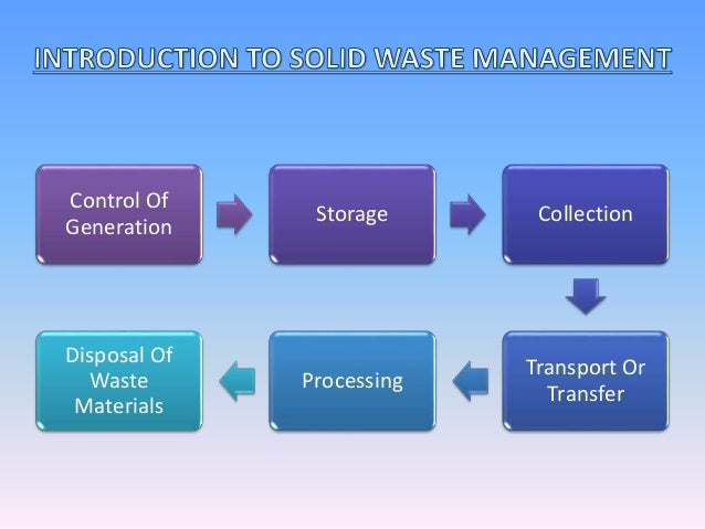 thesis proposal solid waste management