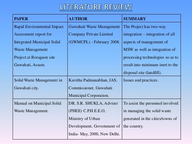 waste disposal research paper Consumer information about reducing, reusing, and recycling materials.