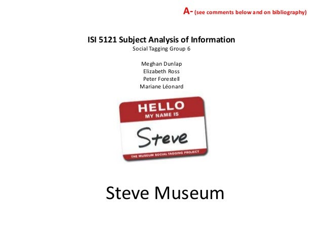 A- (see comments below and on bibliography)ISI 5121 Subject Analysis of Information            Social Tagging Group 6     ...