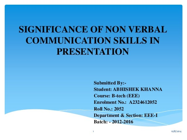 term papers non verbal communication skills